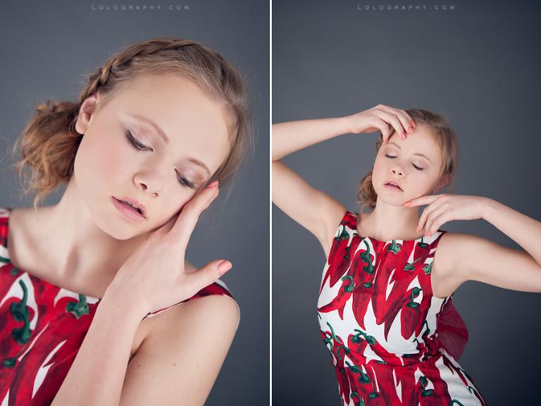 Studio Beauty Shoot With Marina London Portrait Photographer