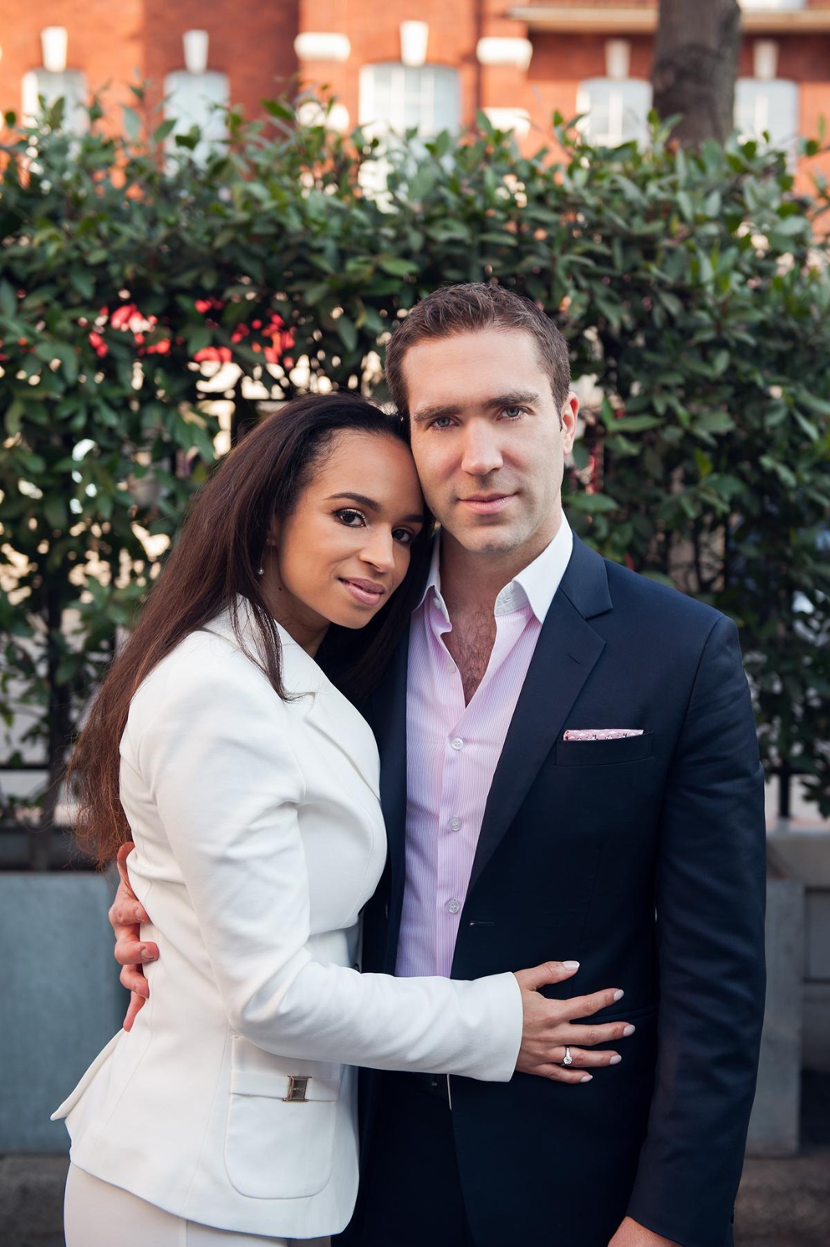 Wedding photo of bride and groom in Chelsea
