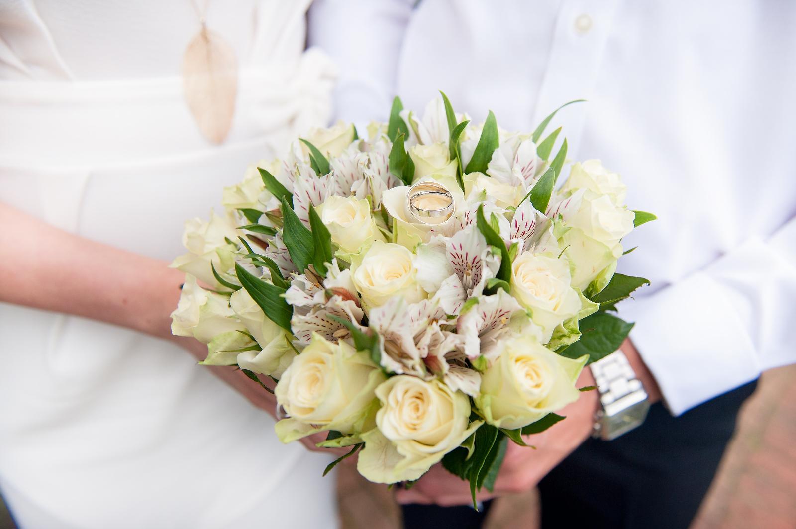 Wedding photo of bouquet in Barnet London